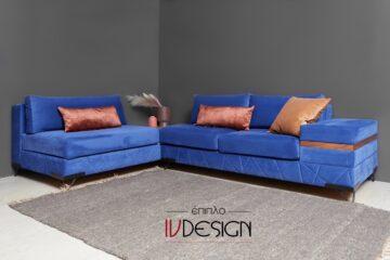 S125 blue καναπές γωνία