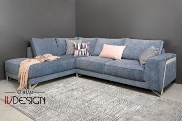 S127 steel καναπές γωνία